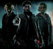 Emma Watson, Daniel Radcliffe, and Rupert Grint in a Promo Pic For Harry Potter and the Deathly Hallows