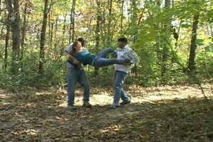 Professor Hilderberg Raped in The Woods