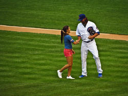 Danica Patrick Throwing Out The First Pitch at Chicago Cubs Game - 7/1/2012