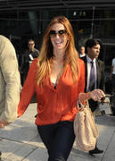 Poppy Montgomery - at Heathrow Airport in London 09/19/12